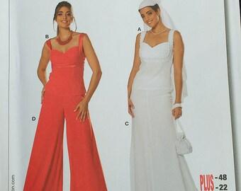 Burda Wedding Evening Dress Pattern  Plus Size 7688
