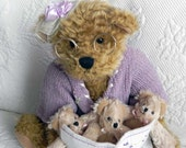 Vintage Beary Special Grandma Teddy Bear Reading to Little Bears