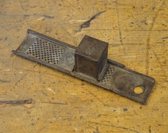 Old Tin Nutmeg Grater | Primitive Grater | Antique Tin Grater | Early Tin Grater