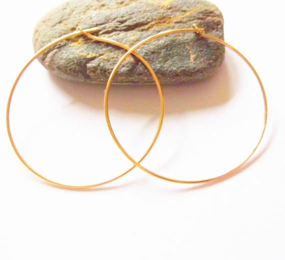 Large 30mm Gold Filled Hoop Earrings, Boho Jewellery, Bridal Jewellery