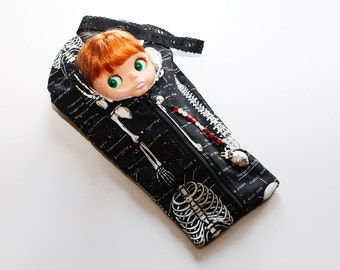 """The Original Blythe Sleepack from PINKKIS: Glow In The Dark """"SPOOKY"""" Carrying Pouch for Blythe Dolls"""