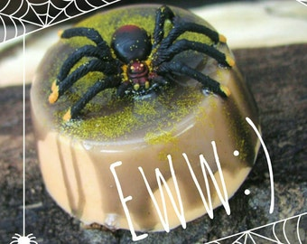 Halloween Spider Soap. Pumpkin Spice, Halloween Gift. Trick or Treat party favor. Gag Gift, Pranks Spiders. Gifts for Him, Novelty Gag Gifts