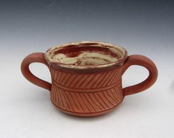 Roman Two handled Mug