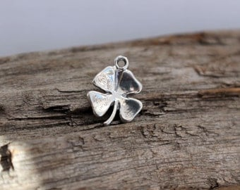 Four Leaf Clover Charm Sterling Silver
