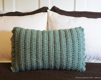 CROCHET PATTERN - Rectangular Decorative Pillow Cover - Instant Download (PDF)