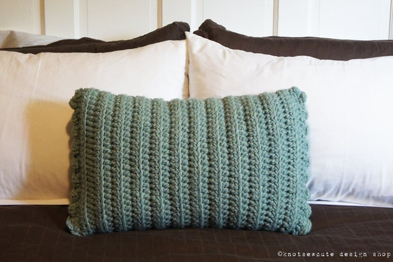 Rectangular Throw Pillow Covers : CROCHET PATTERN Rectangular Decorative Pillow Cover