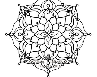 Mandala Instant PDF Download Coloring Page, Expression