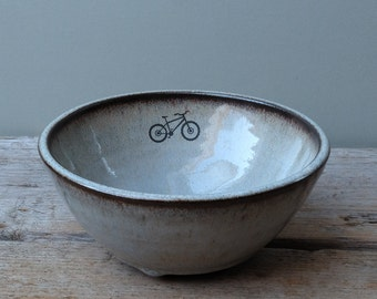 Blue Mountain Bike Cereal Bowl