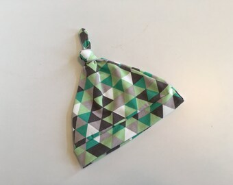 Triangles Knotted Baby Hat