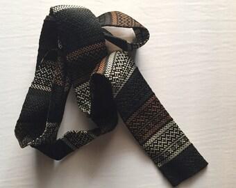 Black/Gold/White Vintage Necktie