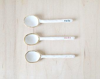 porcelain salt spoon.