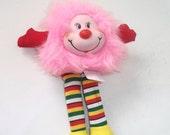 Vintage Rainbow Brite Mini Pink Sprite plush doll