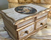 Italian Florentine Dresser Chest Jewelry & Music Box