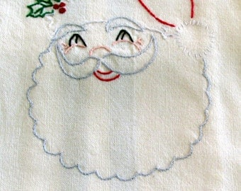 Hsnd Embroidered Santa Claus Hand Towel
