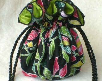 Bright leaves Jewelry Bag, Jewelry Pouch, Travel Organizer