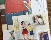 Here Comes the Mailman Vintage Mail Collage, Planner and Scrapbook Kit Number 1884