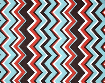 Michael Miller Chevy Chevron Coral - Cotton Quilting Fabric - 1 Yard