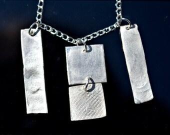 Fine Silver Pendant Bauhaus Prototype