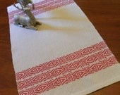 Handwoven Table Runner, Dresser Scarf, Guest Hand Towel by Frederick Avenue