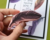 Feather - Hand Carved Rubber Stamp