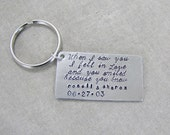 Personalized Love Quote Keychain, Valentine's Day Gift, For Husband, Wife, Girlfriend, Boyfriend, Wedding Anniversary Gift