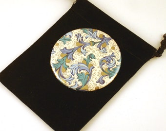 Pocket Mirror Versailles Blue