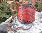 Prosperity bindrune small drawstring coin purse - custom order only