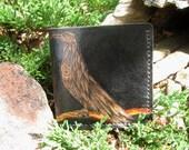 the prophet - custom design hand tooled leather wallet - ooak