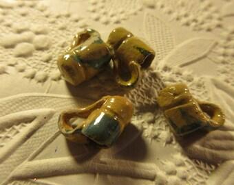 Tiny handmade vintage ceramic cups for jewelry