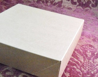 Summer Stock Up Sale 10 Pack Kraft Brown Paper Two Piece Style Packaging Retail Gift Boxes 6.5X6.5X1.65 Inch Size