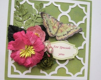 Lovely Lattice dimensional birthday card