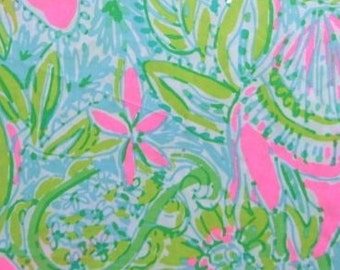 Lilly Pulitzer Dog Leash - Green & Pink Small/Large Sizes All Breeds Spring 2016 - 'Coconut Jungle'