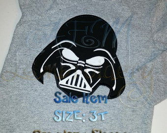 SALE ITEM Vader Long Sleeve toddler shirt Size 3T Ready to ship