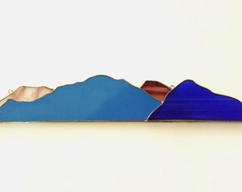 Southern Utah Stained Glass Mountainscape