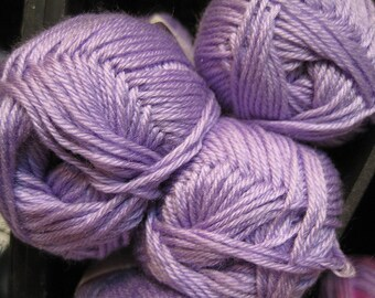 CLEARANCE Super Soft Lavender Cascade Cherub DK Yarn 180 yards Acrylic Nylon Blend Color 16
