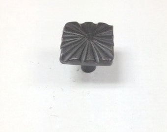 "HomeGrown 142352 1 1/4"" Wrought Iron Star Pattern Cabinet Drawer Pull Knob"
