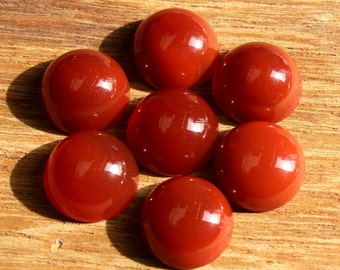 5 Pcs 15mm Red Onyx Round Cabochon / Red Onyx Gemstone Cabochon / Jewelry Making / Loose Gemstone DO08