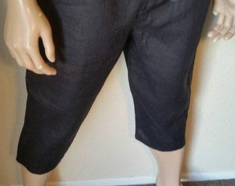 Hermans Hemp Men's 100 percent Hemp L Yoga pants  black shorts