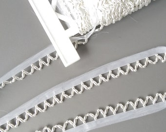 White Pearl Trim by the yard, Pearl Piping, Pearl Edging