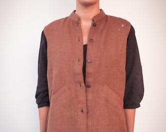 woolen vest handspun