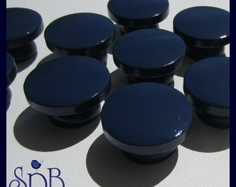 Hand Painted • Navy Blue • Dresser Drawer Knobs • Sweet Petites Boutique • Trending Nursery Collections