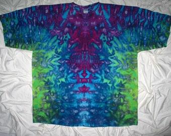Tie Dye, 5XL inkblot ice dye, plus size tie dye t shirt by GratefulDan, Grateful Dead shirt, Men's Tie Dye,  ice dye for women