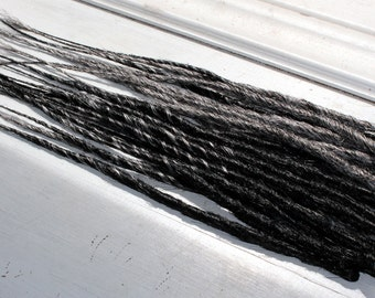 SALE!! Custom Black and Silver SE or DE Synthetic Dreads - Dreadlock Accent Kit Choose Your Quantity!