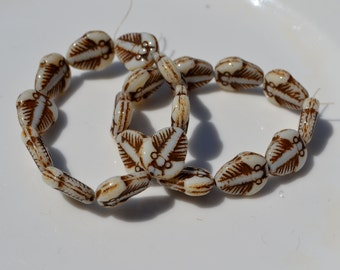 White with Picasso Trilobite Beads  6