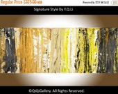 """Painting 60"""" acrylic  large Abstract Painting hand paint on canvas Wall art wall decor home office wall decor """"Treasure Hunt"""" by qiqigallery"""