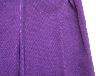 Purple corderoy pants, rock star pants, pirate pants, costume pants--can be made into knickers