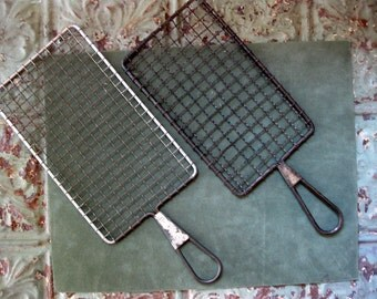 Vintage Pair of Flat Graters, Kitchen Ware, Acme, Wired, Industrial