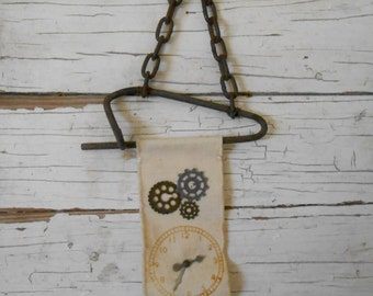 Steampunk Rustic Wall Hanging