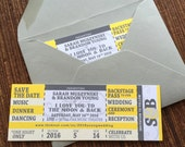 Concert Ticket Save the Date / DIY printable Wedding Invitation / Birthday / Shower