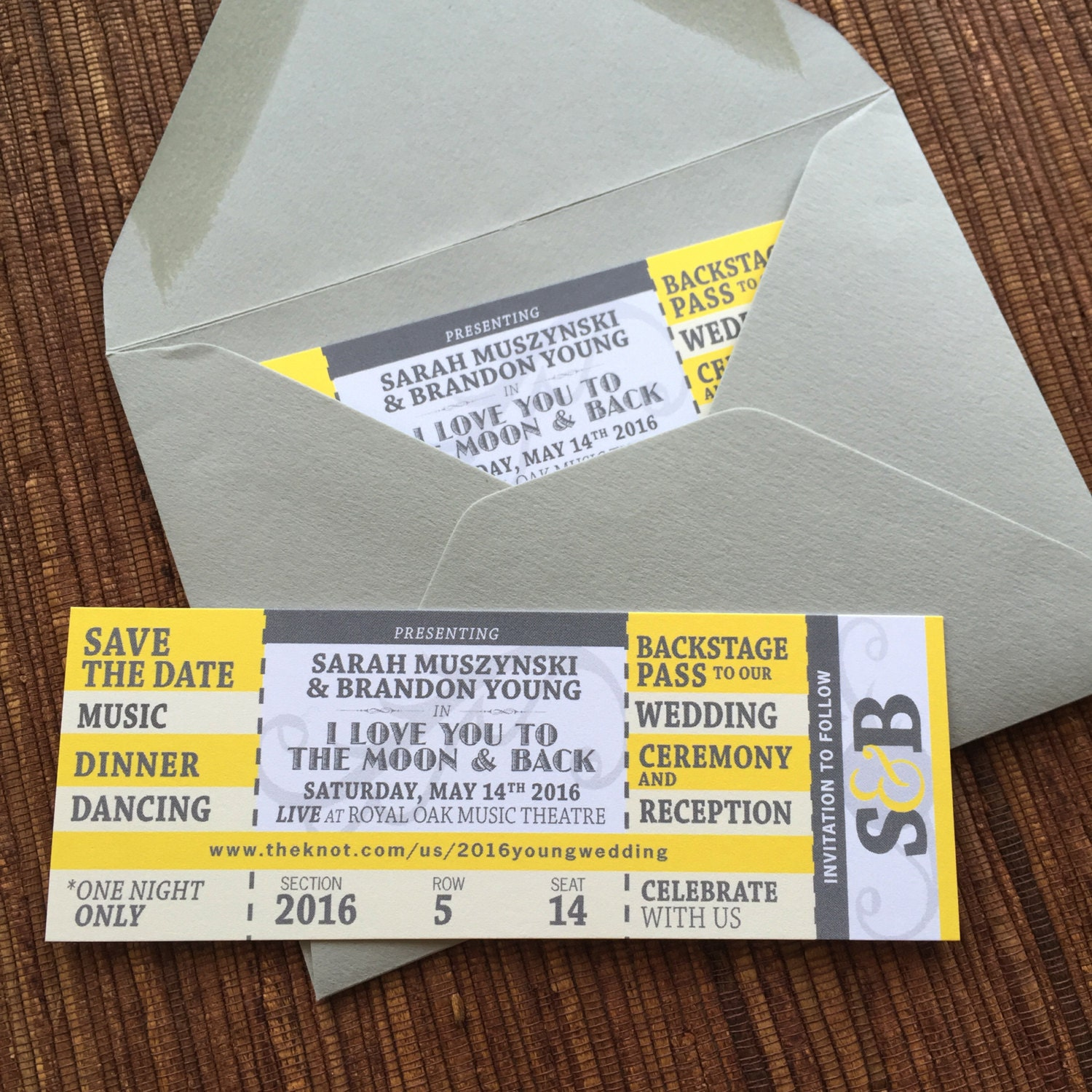 Concert Ticket Save the Date DIY Printable Invitation – Invitations That Look Like Concert Tickets